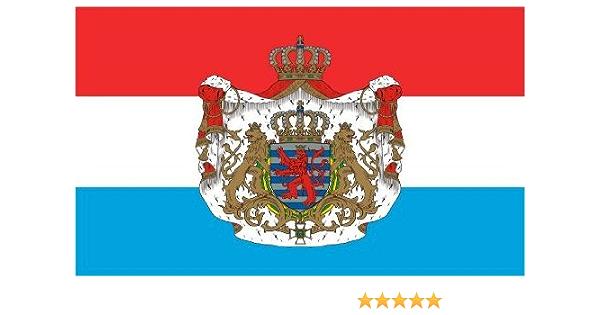 Etaia 5 4x8 4 Cm Auto Aufkleber Fahne Flagge Von Luxemburg Mit Wappen Sticker Motorrad Bike Europa Länder Auto