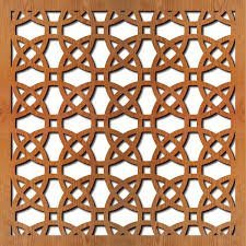 Aarsun MDF Designer Jaali Screens Partition for Home (4 x 4)