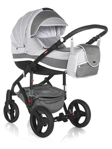 Kombi Kinderwagen Travel System Adamex Vicco R13 3in1 Buggy Sportwagen Babyschale Autositz Kite 0-13kg (2in1)