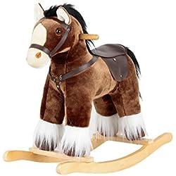 """Caballo balancín """"Dark Brown Rocking Horse"""""""