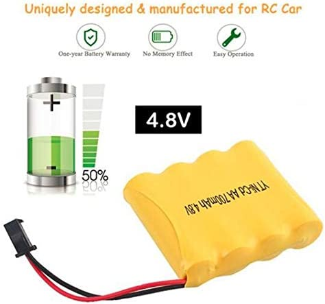 ACROPOLES 4.8V 700mAh Battery     SM Connector Rechargeable Nickel-Chromium Battery Spare Part for Remote Control Car Drone | Paquet Solide Et élégant