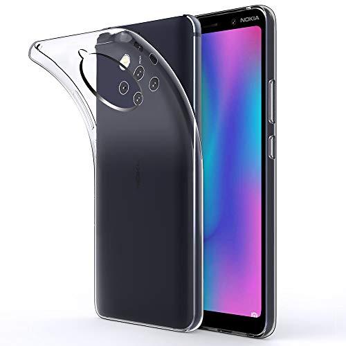 Beetop Nokia 9 Pureview Hülle Schutzhülle Ultradünn Handyhülle Transparent Weiche Silikon TPU Rückschale Case Cover für Nokia 9 Pureview - Durchsichtig