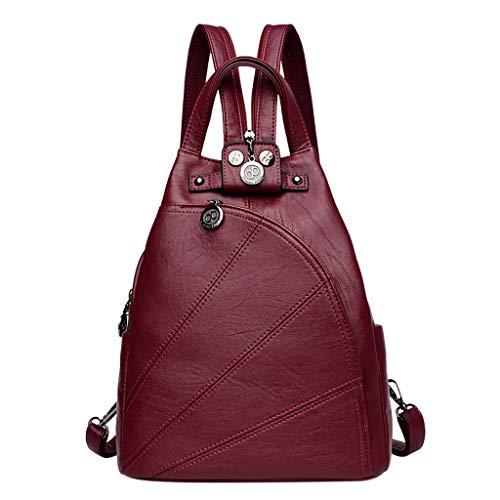 Pingtr - Reiserucksack,Frauen Damenmode Retro Reise Schule Schulter Tote Handtasche Rucksack Taschen (LxBXH:27x16x30cm) - Tote Stil Schulter Tasche