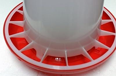 Futterspender für Geflügel 3 KG PLUS Stülptränke 3 Ltr. NEU: ANTIBAKTERIELL von TRADEX - Du und dein Garten