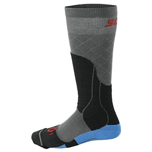 Scott Erwachsene Skisocken MTN Tech, Medium Blue, L, 2367580003008 (Wolle Socken Snowboard Italienischer)