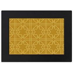 DIYthinker Tailandia Golden Tejido Decorativo Modelo del Marco de Escritorio Foto Arte Negro Cuadro de la Pintura de la Pulgada 5x7