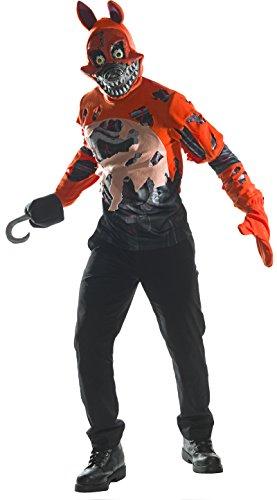 Five Nights At Freddy's Nightmare Foxy Costume Adult Small (Nightmare Freddy Kostüm)