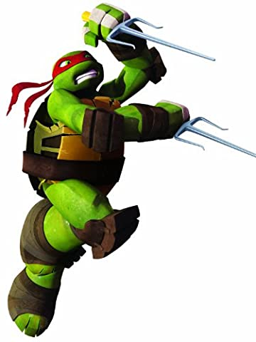 RoomMates 539017 Sticker Géant Repositionnable Personnage les Tortues Ninja Raphael Vynil