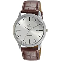 Titan Analog Silver Dial Men's Watch-NK1584SL03