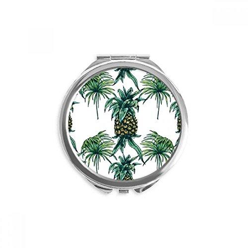 DIYthinker Ananas-Anlage Essen Sie Frucht Grün Spiegel Runde bewegliche Handtasche Make-up 2.6 Zoll x 2.4 Zoll x 0.3 Zoll Mehrfarbig - Frucht-anlage