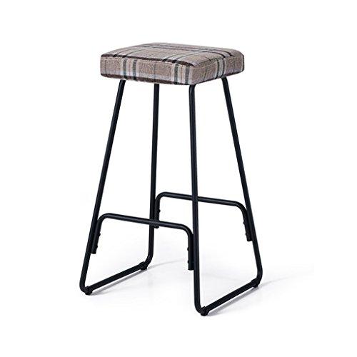 Chairs LI Jing Shop - Barhocker Barhocker für Bar Café Continental Eisen Lounge Stuhl (Farbe : Plaid) - Rot Plaid Lounge