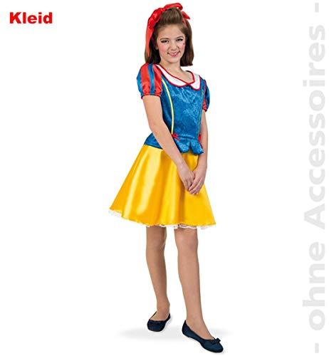 Kostüm Teenager Märchen - Unbekannt Schneewittchen Damen Märchen Kostüm Prinzessin Teenager Damenkostüm