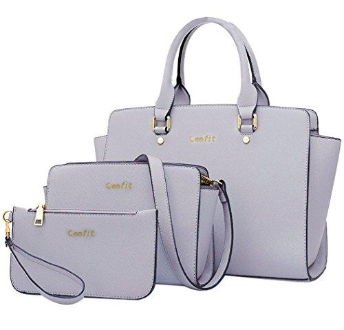 Coofit Damen Handtaschen PU Leder Messenger Bags Tragetaschen Satchel Clutch Wallet Geldbörse (Werden D-leder-satchel &)