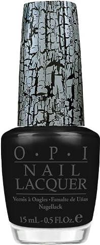 O.P.I Shatter Nail Polish/Varnish - Silver,Red &Black Shatter- Fullsize 15ml (Black-Katy Perry Collection)