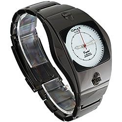 Original Omax Uhr EDEL Metall Armbanduhr Luxus