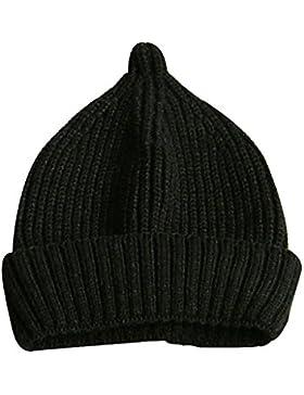 Pingenaneer Kindermütze Strickmütze Herbst Winter Mütze Stretchy Warme Beanie Nippel-Stil für Baby Kinder