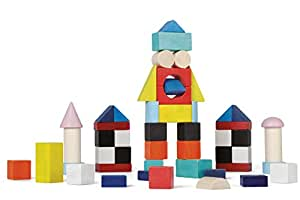 Janod - J08060 - Kubix - 50 Cubes Bois