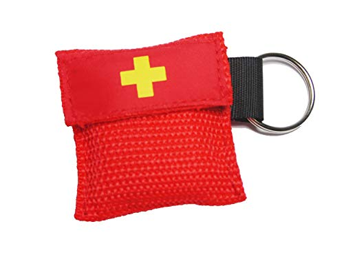 Worldconnection Beatmungsmaske Beatmungstuch Schlüsselanhänger Beatmungsfolie rot CPR Maske - Cpr-maske