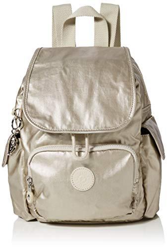 Kipling Damen City Pack Mini Rucksack, Gold (Cloud Metal), 27x29x14 cm