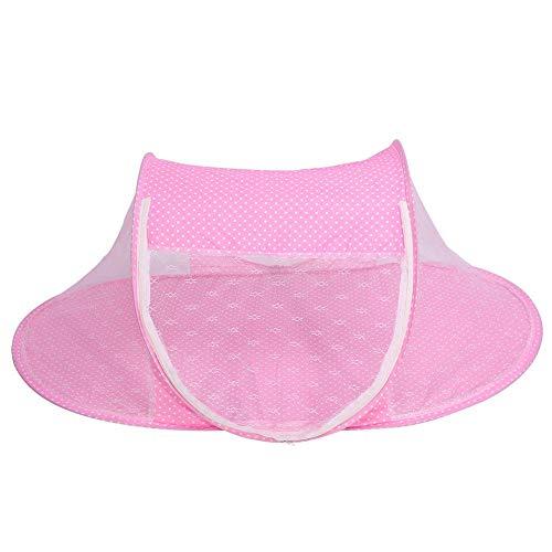 Baby-Säuglingsbett-Überdachung-Moskito-Netz, faltbares Baby-Säuglings-Pop-up Krippen-Wiege Anti-Bug-Zelt-Moskitonetz-Netz-tragbare Baumschulen-Bett-Krippen-Überdachungs-Reise-Bett-Spiel-Schatten(Pink)