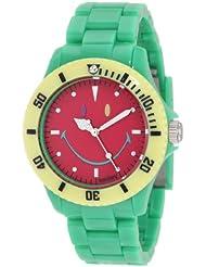 Smiley Happy Time Unisex-Armbanduhr Analog grün bunt WGS-CBGV01