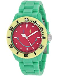 Smiley Happy Time Unisex-Armbanduhr Analog grün bunt WGS-CBGV01
