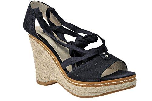 Keys Zeppa 100 Sandali Nuovo Scarpe Donna Blu