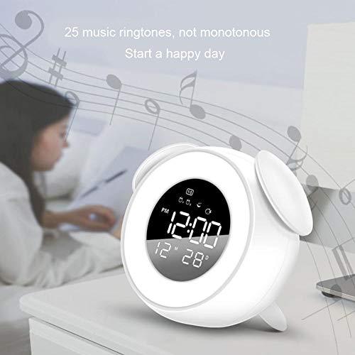 VERLOCO Reloj Despertador Musical LED Wake-up Light