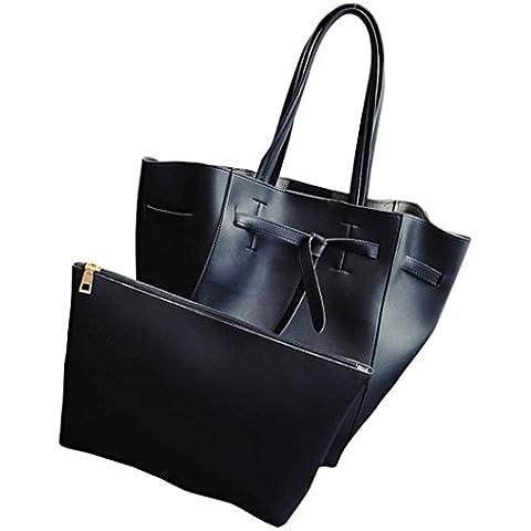 Le donne di moda Drawstring della benna spalla della borsa Grande borsa Tote signore,Fami - Benna Caso