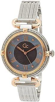 Gc Ladies Quartz Watch, Analog Display, Stainless Steel Bracelet, Y58002L5MF, Silver