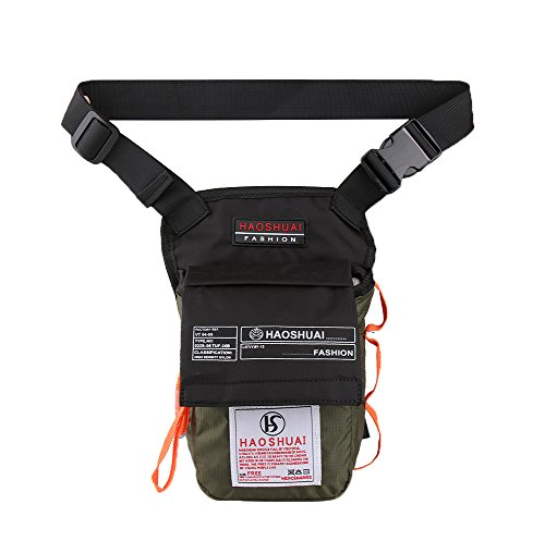 Genda 2Archer Nylon Beintasche Freizeit Oberschenkel Tasche für Outdoor-Aktivitäten (Schwarz) ArmeeGrün