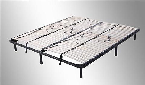 i-flair® - Lattenrost, Gästebett 160x200 cm - auf Füßen, für alle Matratzen geeignet
