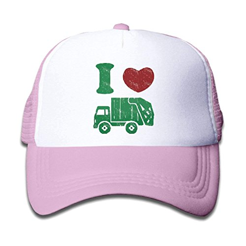 5a3f8801e81e3 ewtretr Waldeal Children s I Love Trash Garbage Trucks Hat Truck Hat Mesh  Cap Adjustable Unisex Suitable