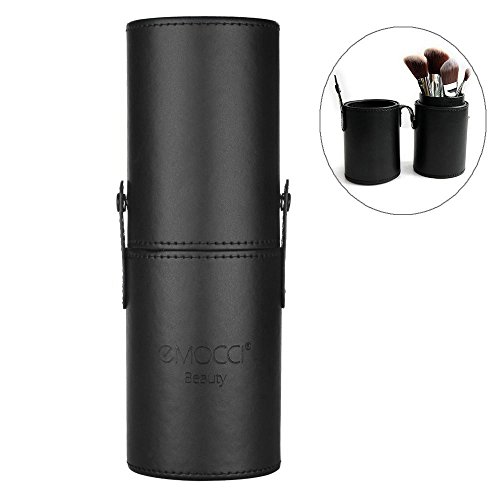 Make Up Pinsel Halter PU Leder Make Up Pinsel Kosmetik Organizer Travel Make-up Cup Tasche Schwarz