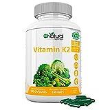 Vitamina K2 MK7. Suplemento Natural . Protege Corazón, Cerebro. Huesos Fuertes. 180 Cápsulas de...