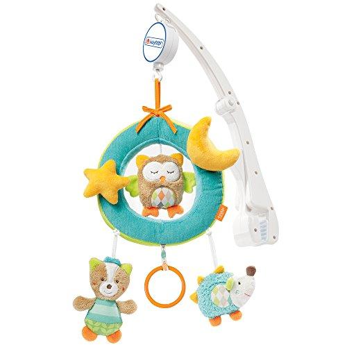 Preisvergleich Produktbild Fehn 071252 Reise-Mobile Sleeping Forest – Spieluhr-Mobile zum Mitnehmen - flexible Anbringung am Reisebett und Kinderbett – Für Babys und Kleinkinder von 0-5 Monaten