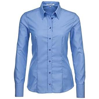 Seidensticker Damen Bluse Gr. 34, Blau - Blue - mittelblau (0014)