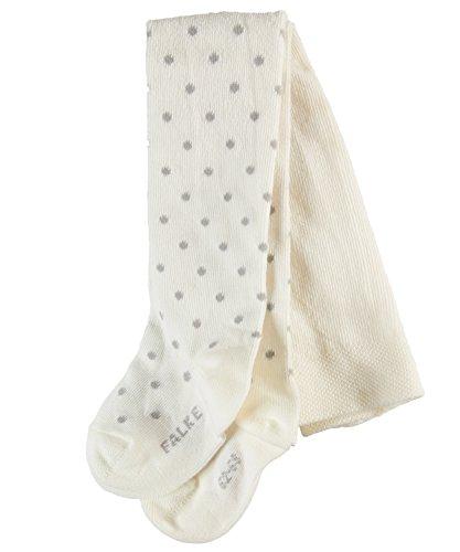Dot Strumpfhose (FALKE Babys Strumpfhosen / Leggings Little Dot - 1 Paar, Gr. 80-92, weiss, Baumwolle, weiches Bündchen, Mädchen Jungen)