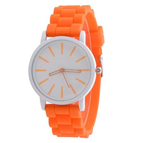 Tyler Schüler Uhrn Damenuhr Quarz Analog Orange Vogue (Vogue Uhren Frauen)