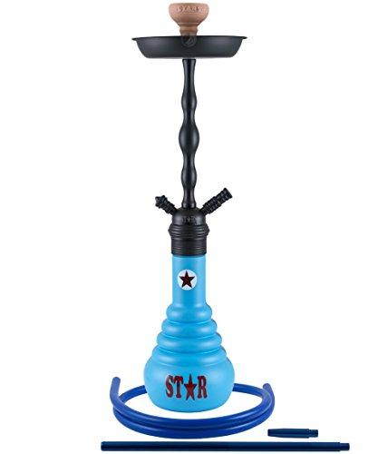 4-Stars 630D - blue - RS black powder | Shisha Wasserpeife 630 4 Stars
