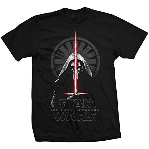 STAR WARS Episode VII Kylo REN Shadows, Camiseta para Hombre, Negro, Medium
