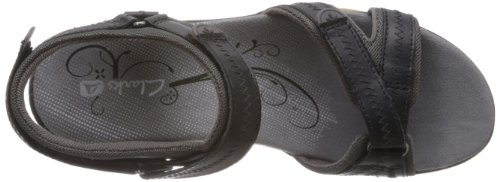 Clarks Isna Pebble 20353296, Sandali sportivi donna Nero (Black Leather)