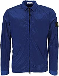 Stone Island Full Zip-Up Metal Overshirt Jacket Royal Blue V0022 10844