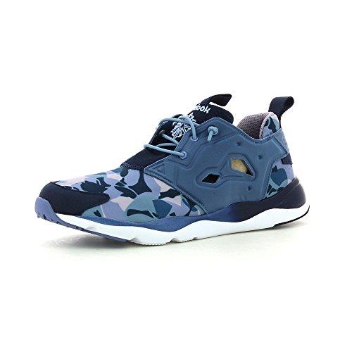 Reebok Clássico Menina Doce Furylite Sapatos Senhoras Sneaker Sneakers V68792 Azul -