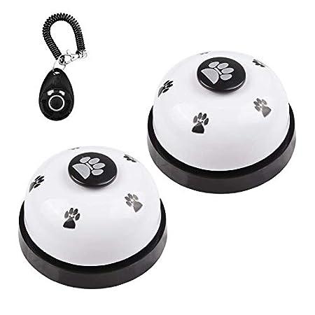 DIVISTAR Hundeglocke, Set mit 2 Glöckchen für Hunde, Welpen, Haustiere, Türklingel mit Rutschfester Unterseite aus Gummi…