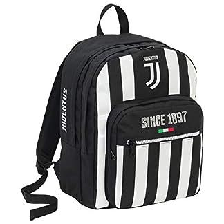 Seven Zaino Doppio Scom Juventus Coaches Mochila Tipo Casual 41 Centimeters 34 Negro (Bianco e Nero)