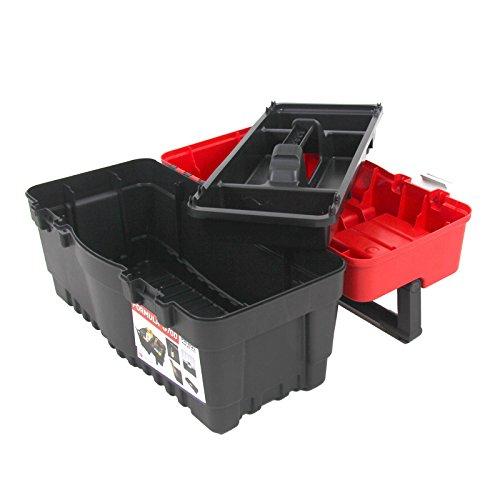 Kunststoff Werkzeugkoffer Formula S ALU 700, 60x33cm Kasten Werzeugkiste Sortimentskasten Werkzeugkasten Anglerkoffer - 7