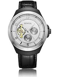 Hermosos Relojes mecánicos Sewor / 201701 automatica mecanica Reloj de Hombre de Acero Inoxidable Reloj de