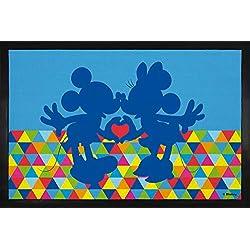 1art1 Walt Disney Paillasson Essuie-Pieds - Mickey et Minnie Mouse (60 x 40 cm)