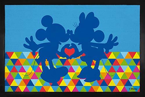 1art1 Walt Disney - Mickey Minnie Mouse Felpudo Alfombra